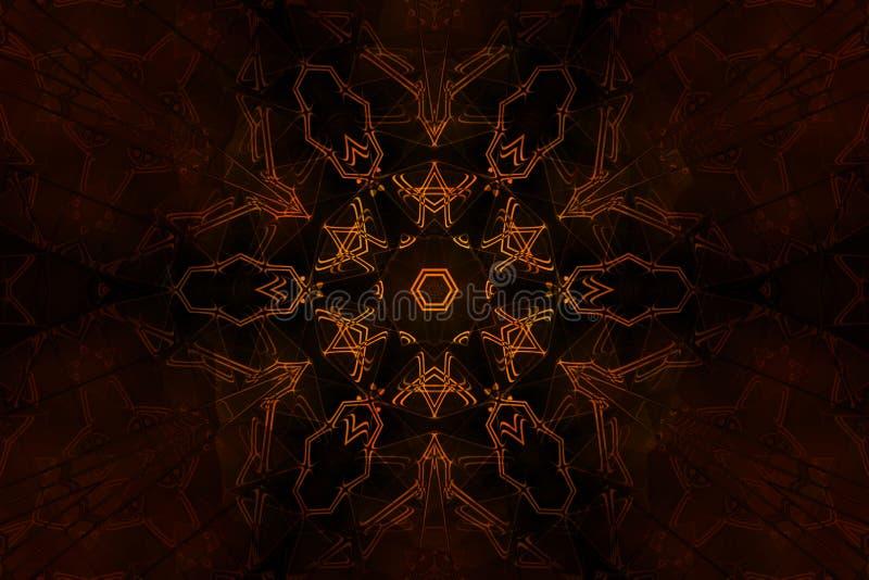Symbole occulte de flambage illustration stock