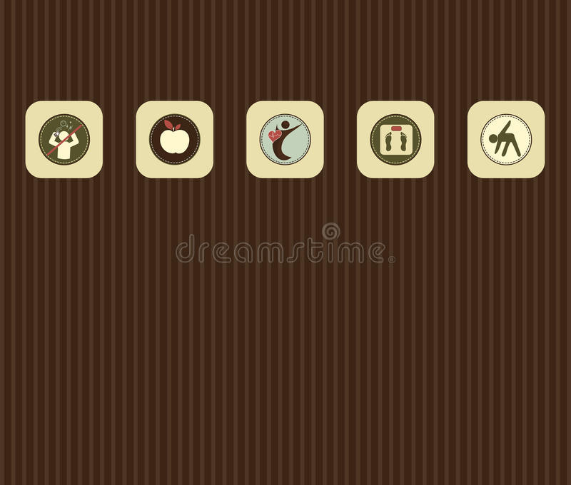 Symbole opieka zdrowotna royalty ilustracja