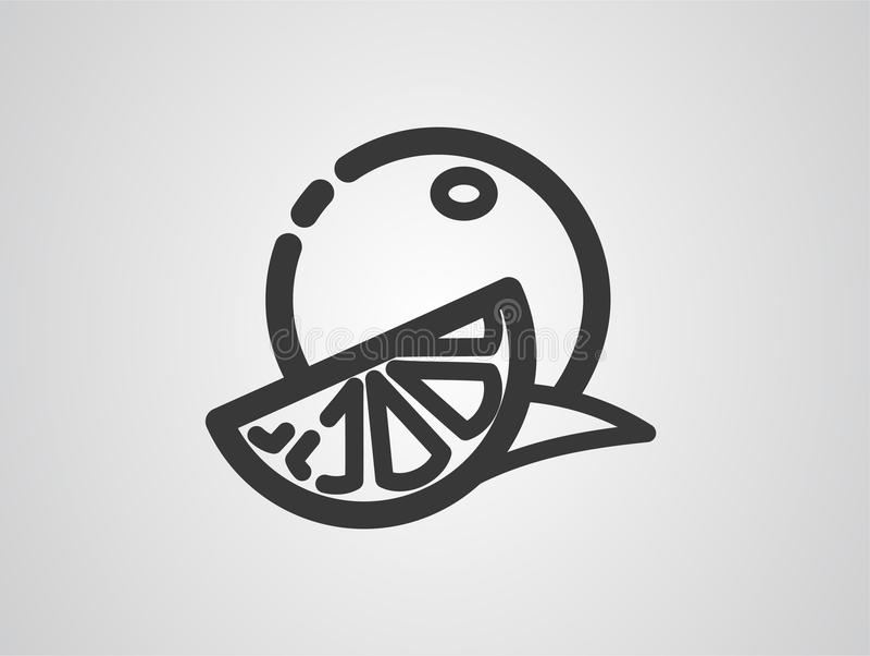 Symbole orange de signe d'icône de vecteur illustration de vecteur