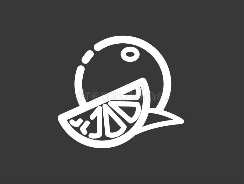 Symbole orange de signe d'icône de vecteur illustration libre de droits