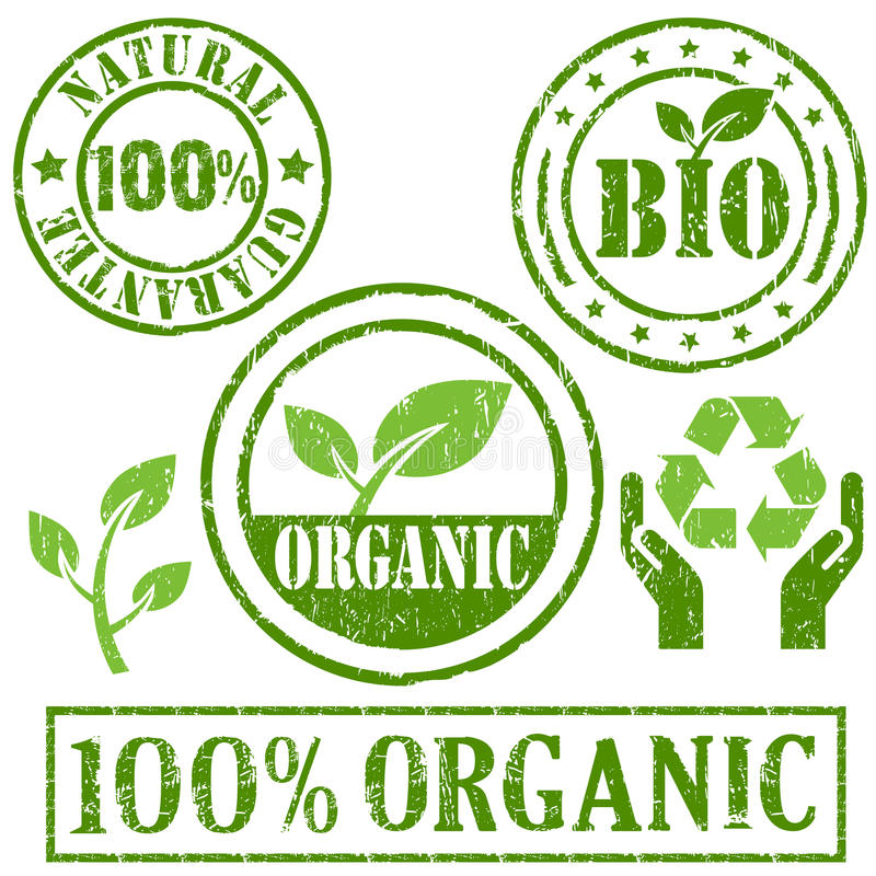 Symbole organique et normal illustration stock