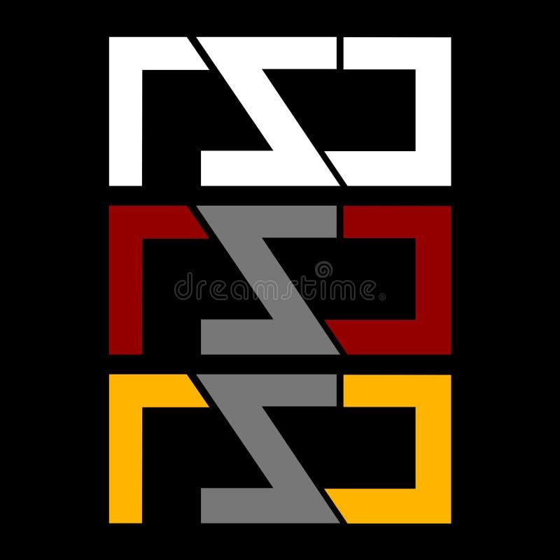 Symbole ou logo de centre technique photo stock