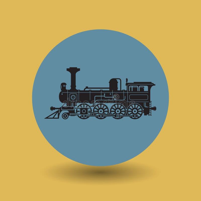 Symbole ou signe locomotif illustration stock