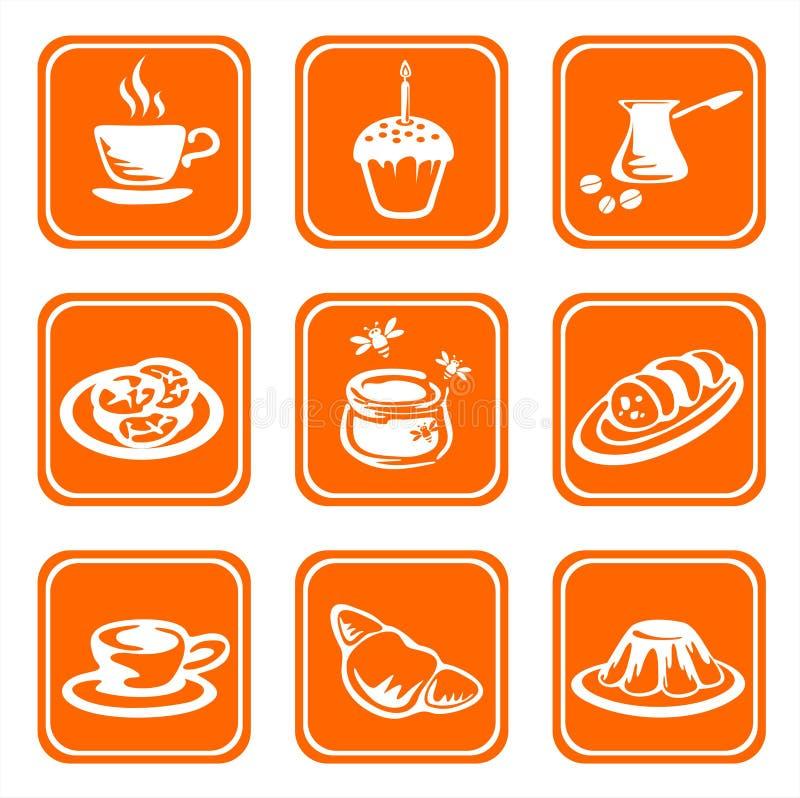 symbole ozdobni żywności royalty ilustracja