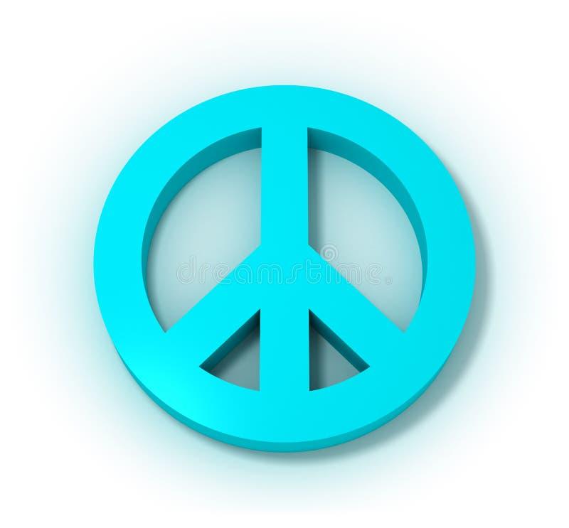 Symbole Pacifique bleu illustration stock