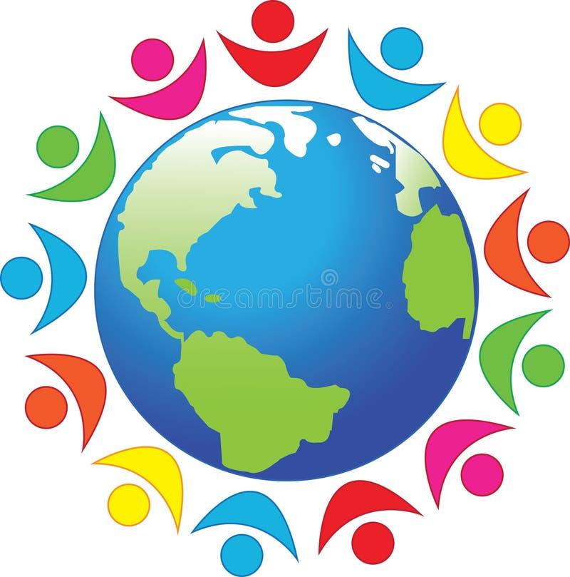Symbole, paix, la terre de planète illustration de vecteur