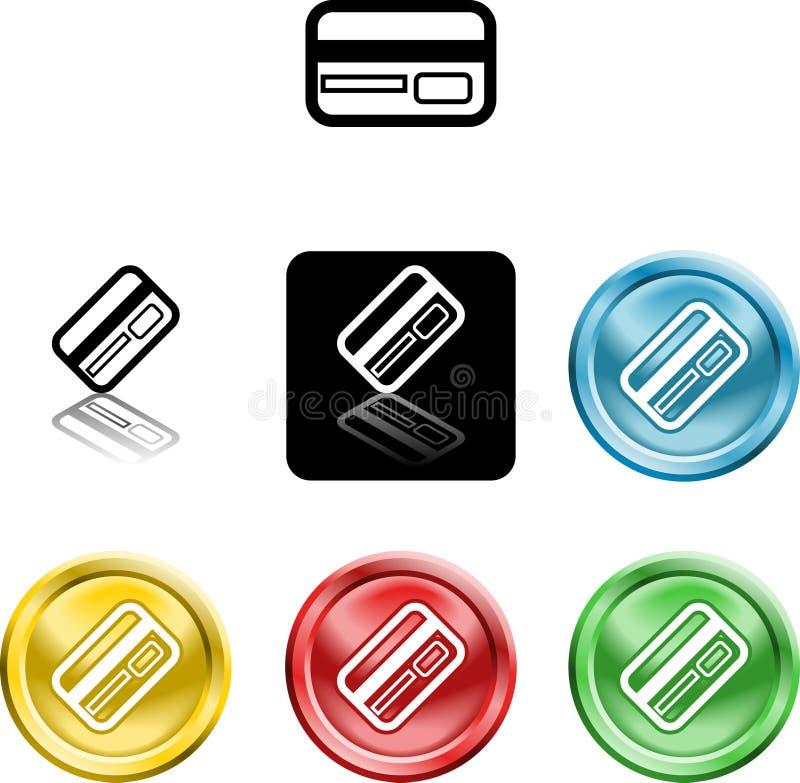 Symbole par la carte de crédit de graphisme illustration libre de droits