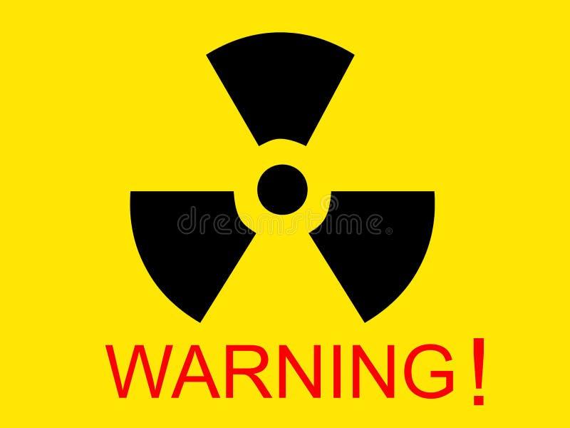 Symbole par radio médical jaune avec le mot d'avertissement photos libres de droits