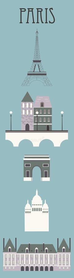 Symbole Paryż royalty ilustracja