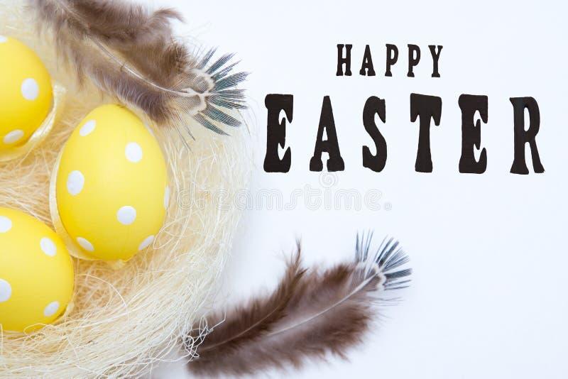 Symbole peint d'oeufs-un de Pâques photos stock