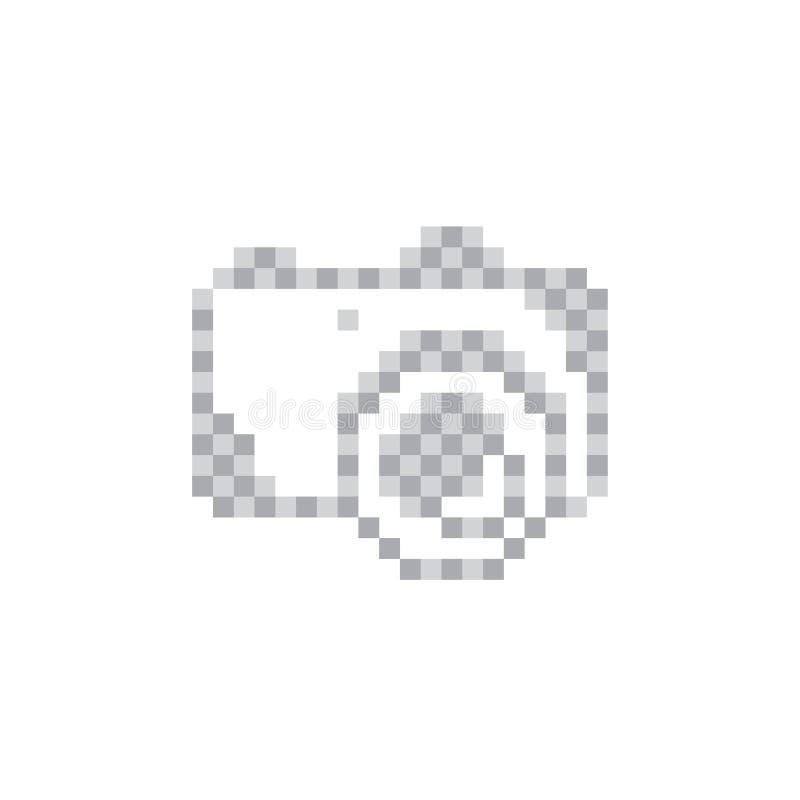 symbole photograpy de signe d'appareil-photo de pixel illustration stock