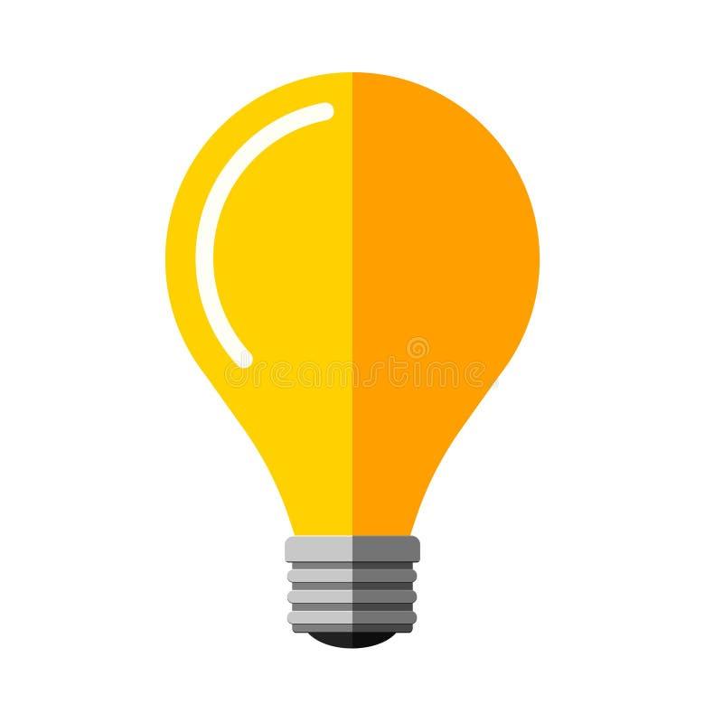 Symbole plat d'idée de vecteur d'ampoule illustration stock