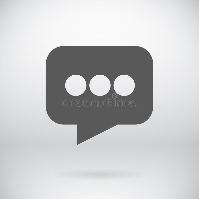 Symbole plat de bulle de vecteur de signe de message électronique illustration stock
