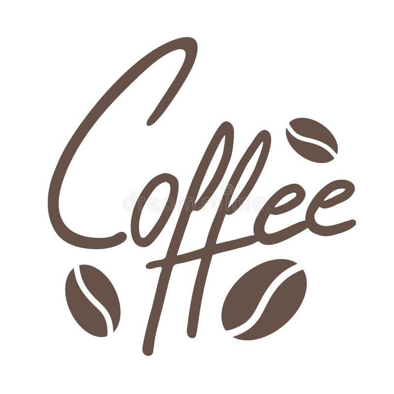 Symbole plat de Coffe illustration de vecteur