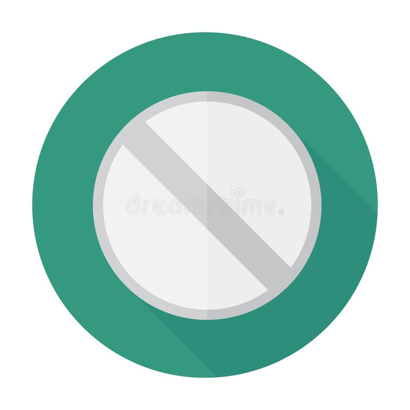 Symbole plat de signe d'icône de pilule, autocollant Pour des soins de santé médicaux photographie stock