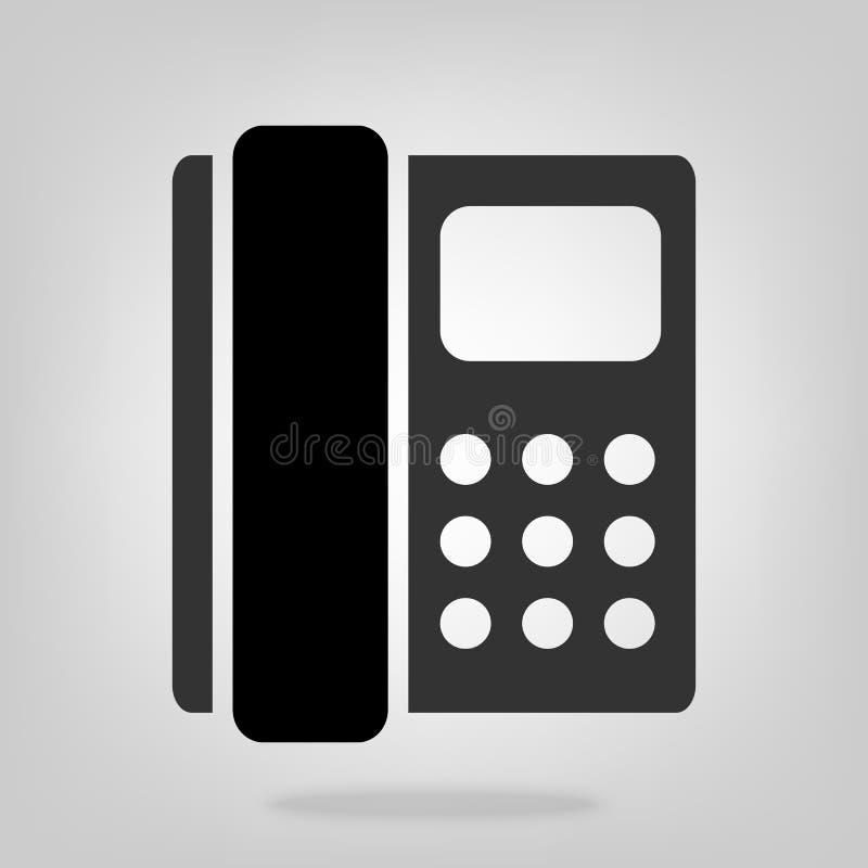 Symbole plat de style d'icône de vecteur de téléphone de téléphone domicile pour la conception graphique, site Web, milieu social illustration libre de droits