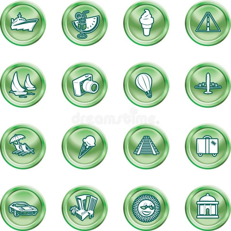 symbole podróży turystycznej royalty ilustracja