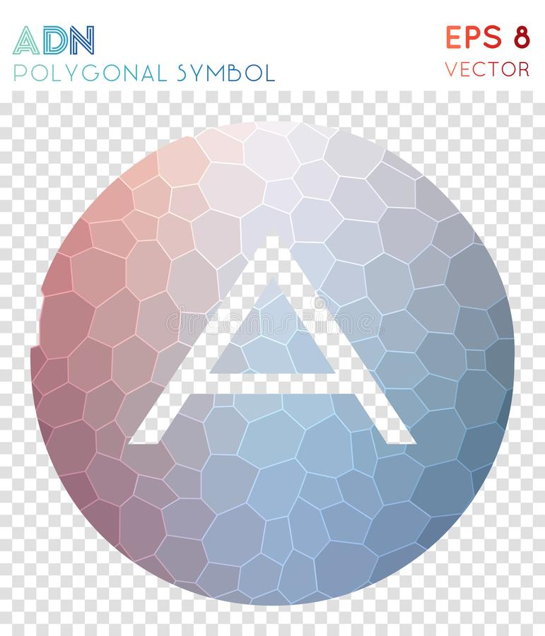 Symbole polygonal d'ADN illustration stock