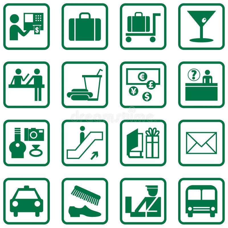 symbole portów lotniczych ilustracja wektor