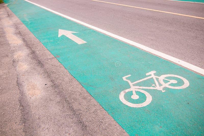 Symbole pour indiquer la route pour des bicyclettes veuillez partager la route pour le vélo image libre de droits