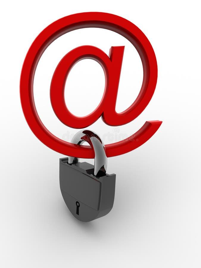 Symbole pour l'Internet avec le blocage illustration de vecteur