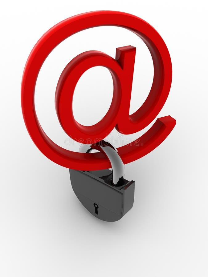 Symbole pour l'Internet avec le blocage illustration stock