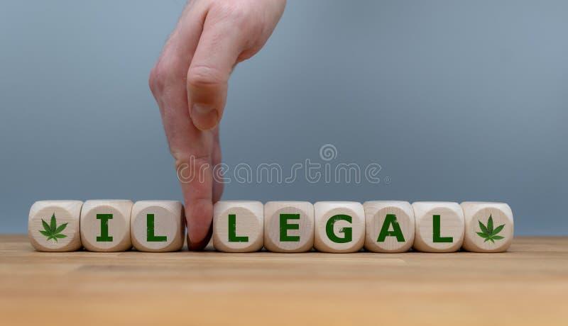 Symbole pour la légalisation de marijuana photographie stock libre de droits