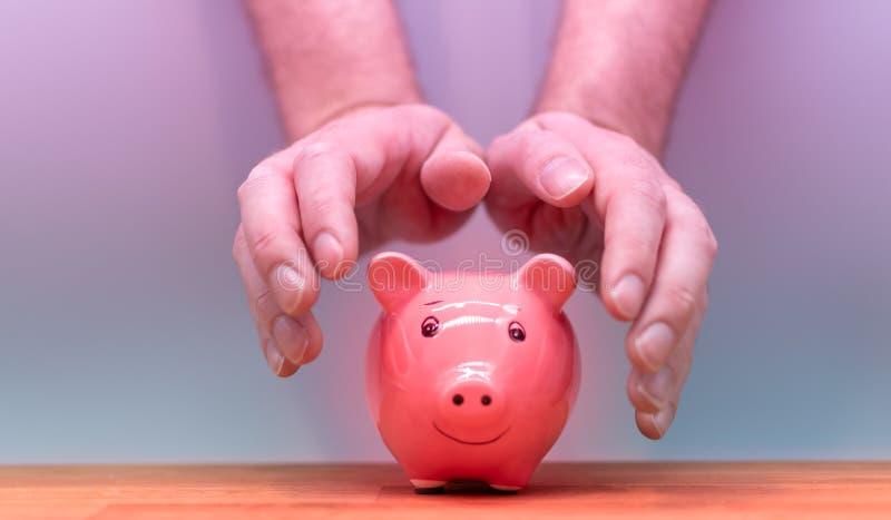 Symbole pour protéger votre argent photographie stock libre de droits