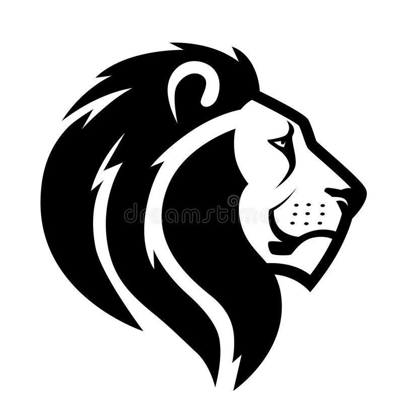 Symbole principal de lion illustration libre de droits
