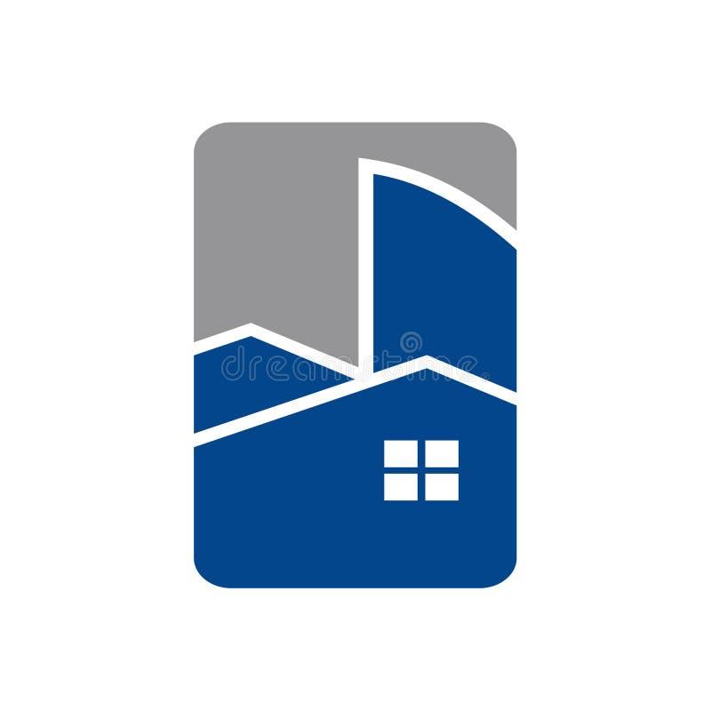 Symbole privé et commercial d'icône de Real Estate de bâtiment illustration libre de droits