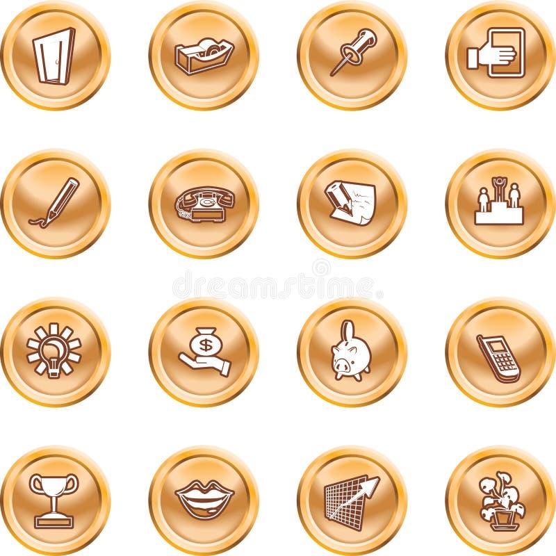 symbole przedsiębiorstw biurowe royalty ilustracja