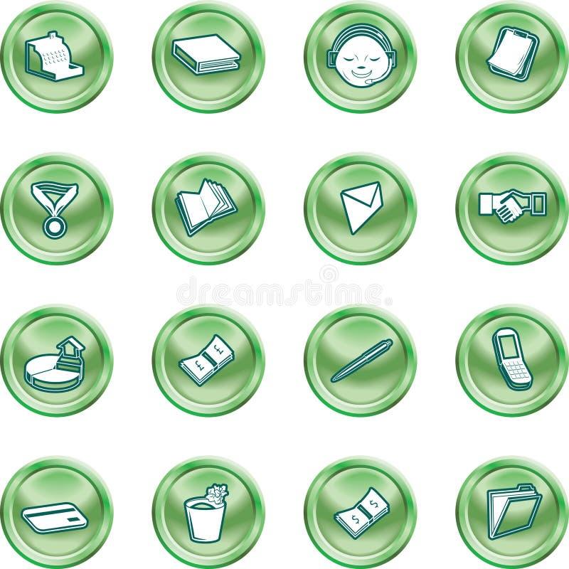 symbole przedsiębiorstw biurowe ilustracji