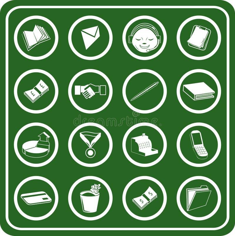 symbole przedsiębiorstw biurowe ilustracja wektor