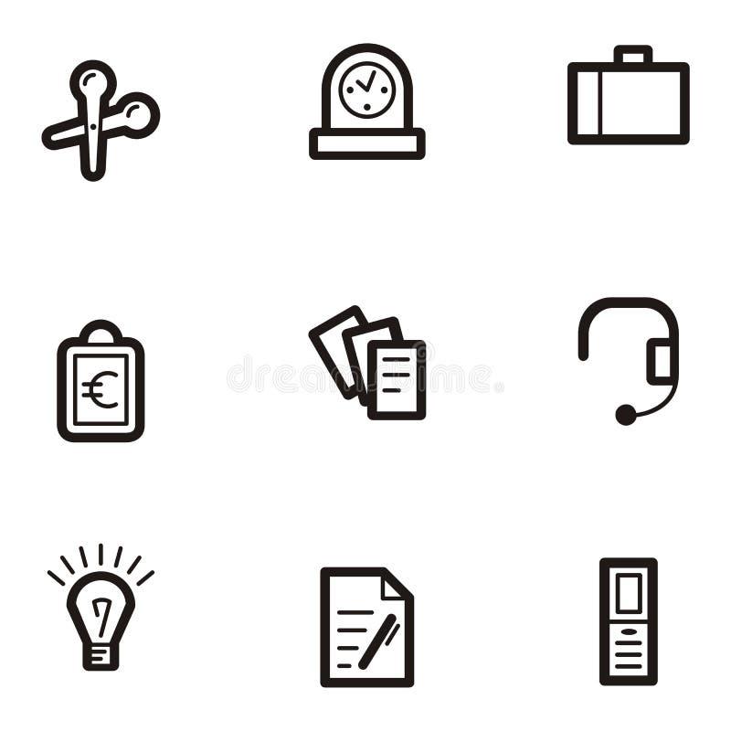 symbole przedsiębiorstw równiny serii ilustracja wektor