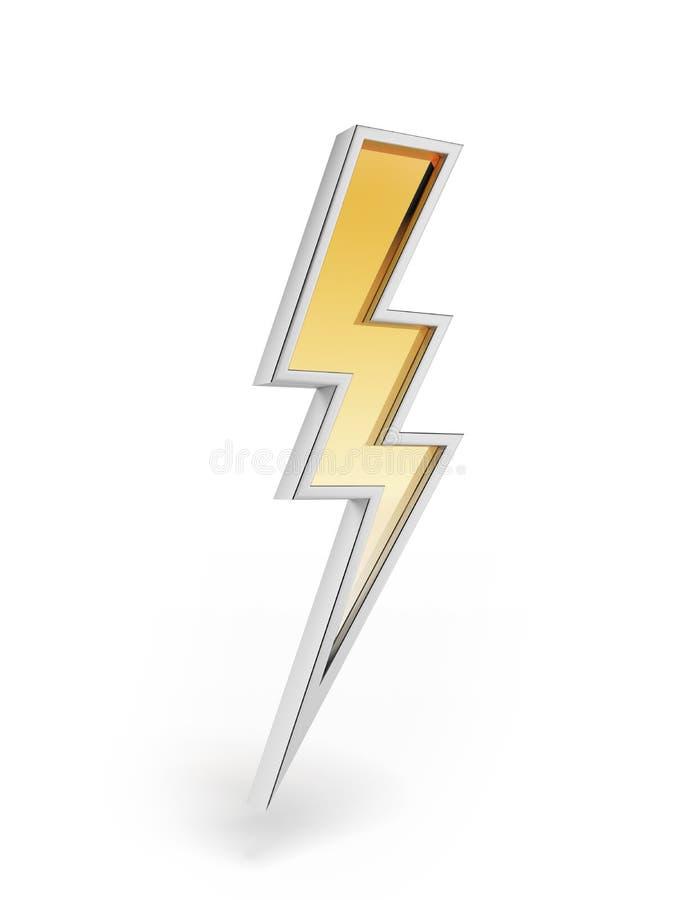 Symbole puissant d'éclairage illustration stock