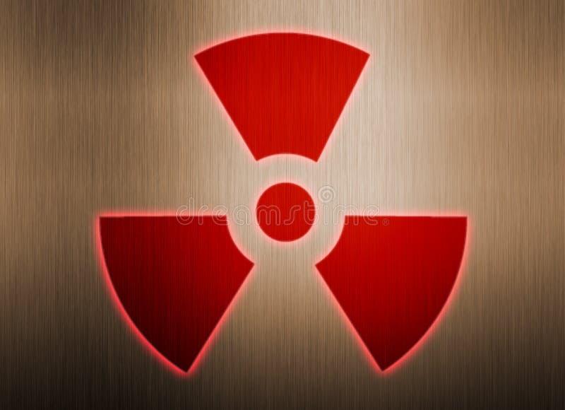 Symbole radioactif sur le fond en métal illustration libre de droits