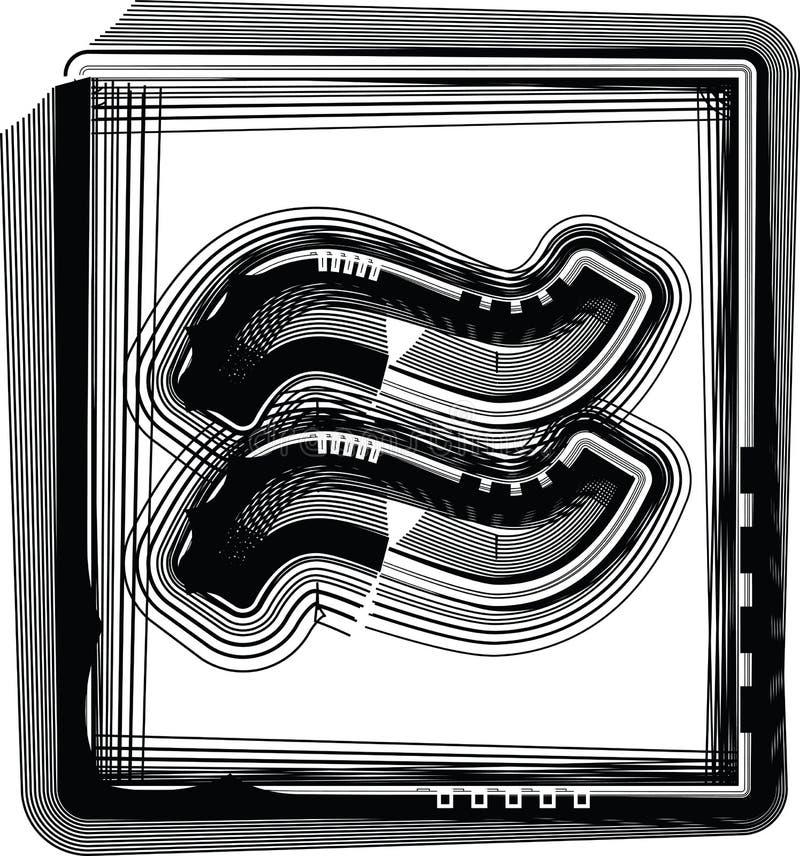 Symbole rayé illustration libre de droits