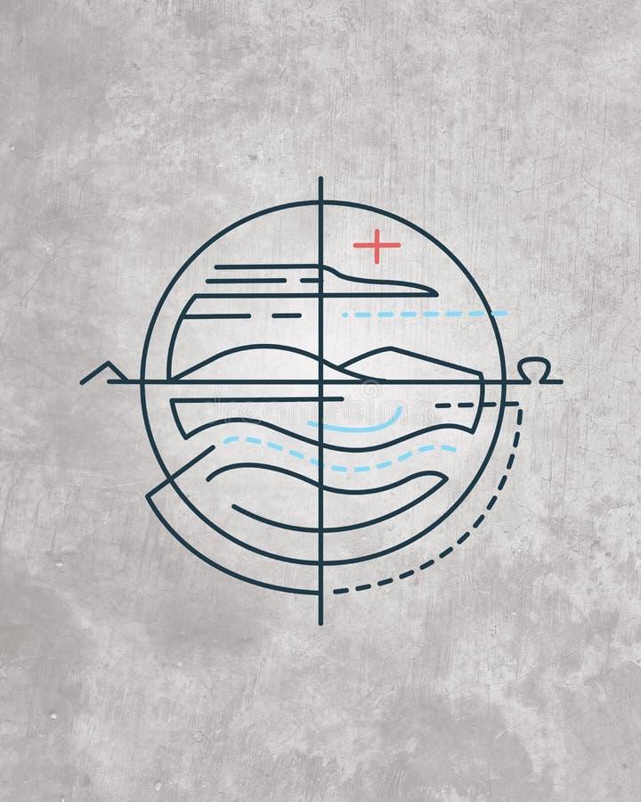 Symbole religieux minimal illustration stock
