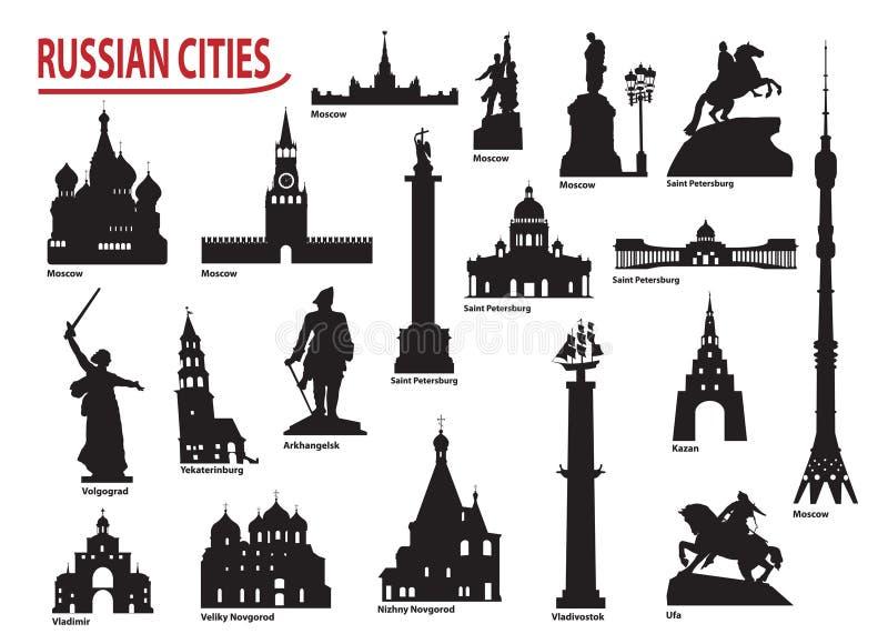 Symbole Rosyjscy miasta royalty ilustracja