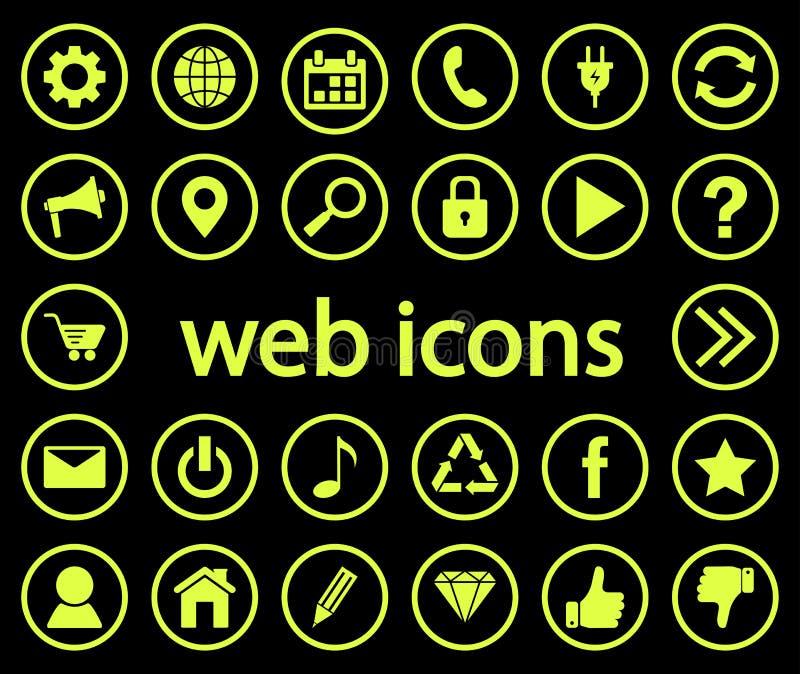 symbole są sieci również zwrócić corel ilustracji wektora ilustracja wektor