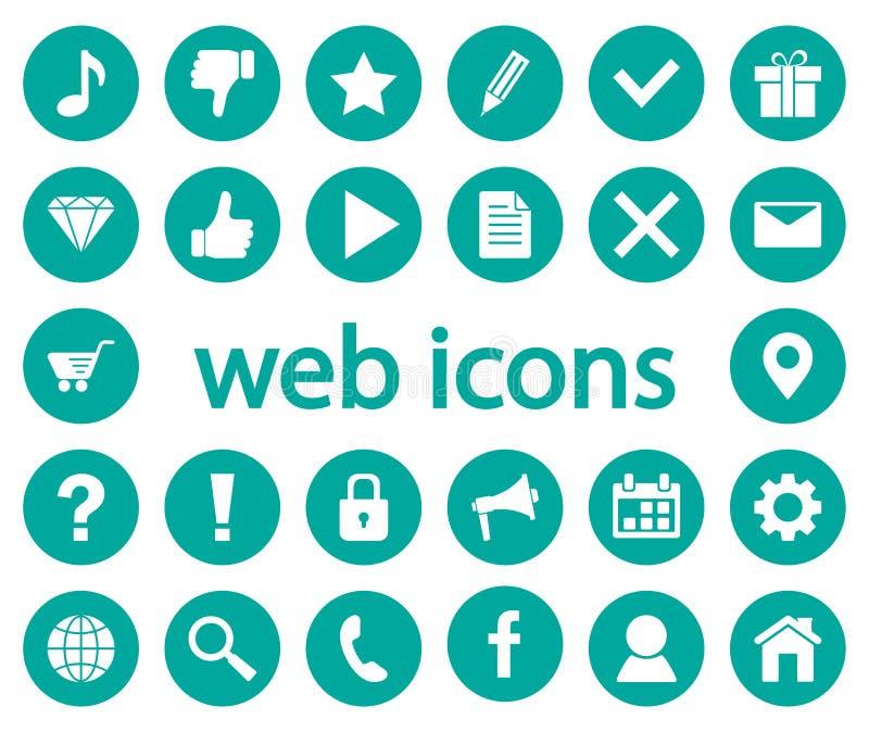 symbole są sieci również zwrócić corel ilustracji wektora royalty ilustracja