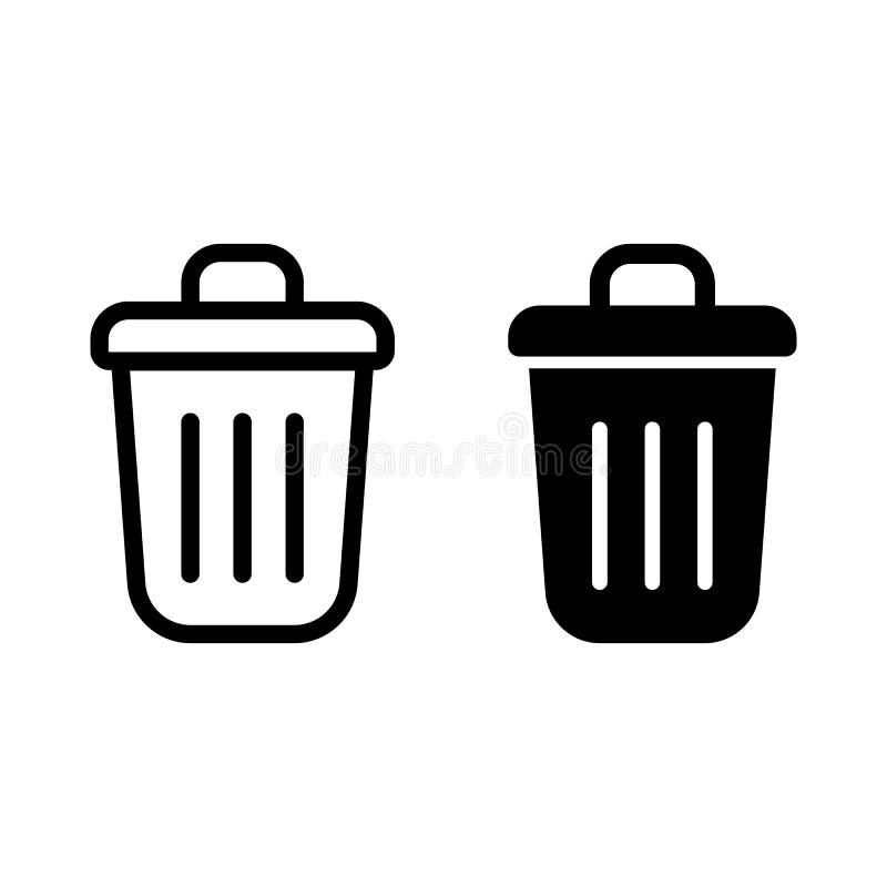symbole s? przetwarzane set 2 editable wypełniający przetwarza ikony tak jak kosz na śmieci, deleatur kosz na śmieci royalty ilustracja