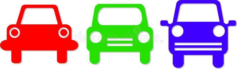 symbole samochodowych ilustracji
