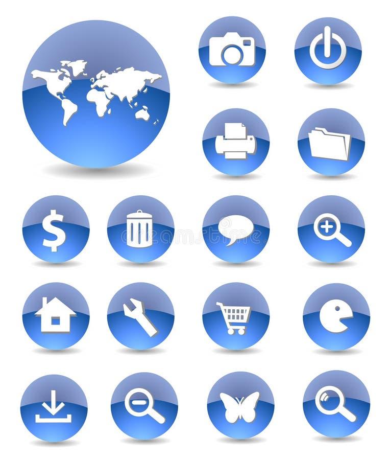symbole sieci ilustracji
