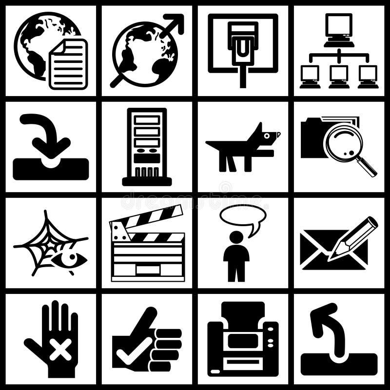 symbole sieci royalty ilustracja