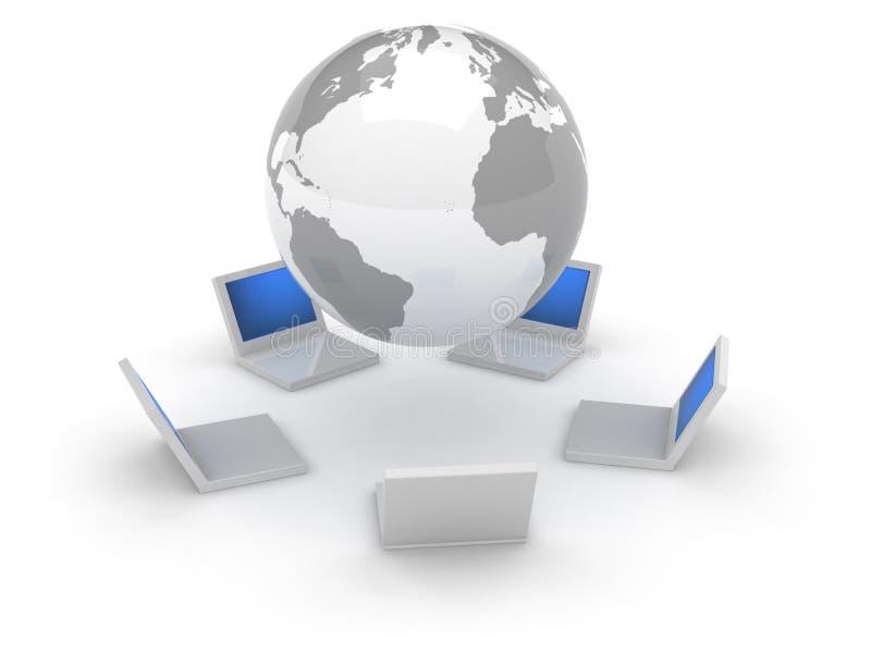 symbole sieci internetu 3 d royalty ilustracja