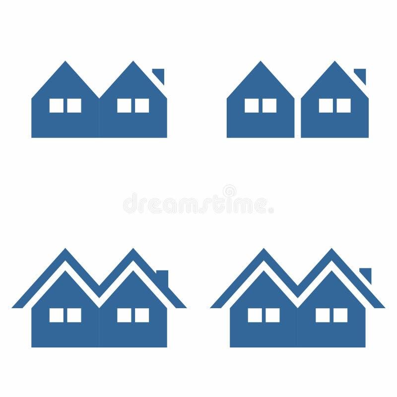 Symbole simple de maison/Chambre image stock
