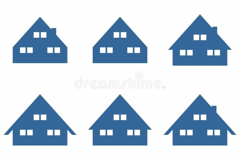 Symbole simple de maison/Chambre photo stock