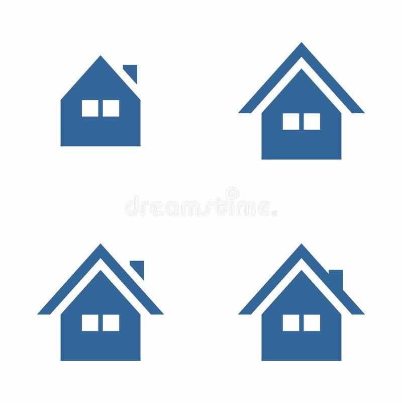 Symbole simple de maison/Chambre photographie stock