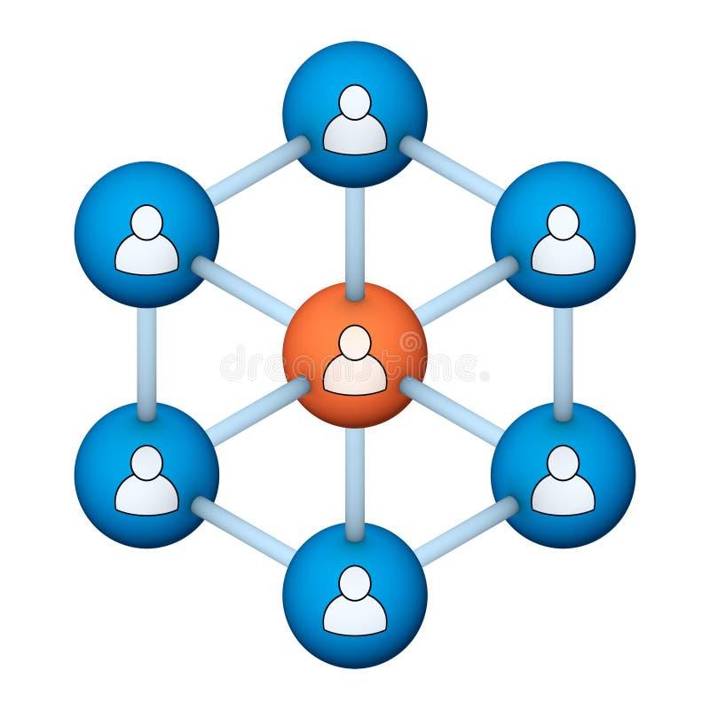 Symbole social de réseau illustration stock